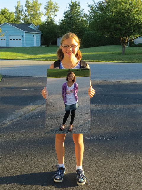 First and last day of school picture