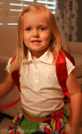 First day of school picture - Ask Anna