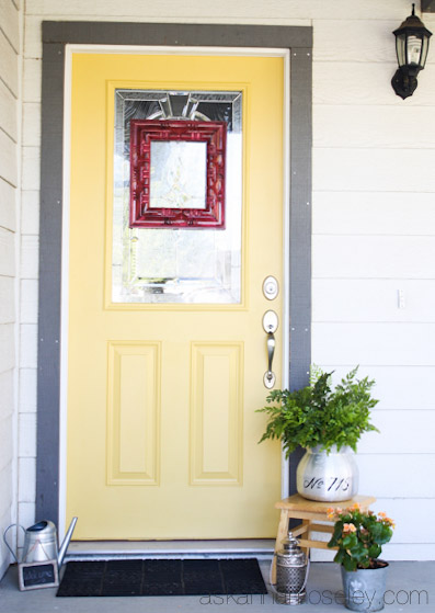 A Yellow Front Door {Makeover}