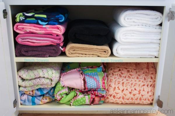Linen closet organization - Ask Anna