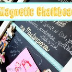 Magnetic chalkboard tutorial- Ask Anna