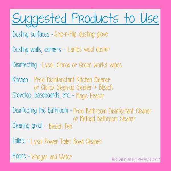Move In Checklist U0026 Products To Use For Cleaning   Ask Anna