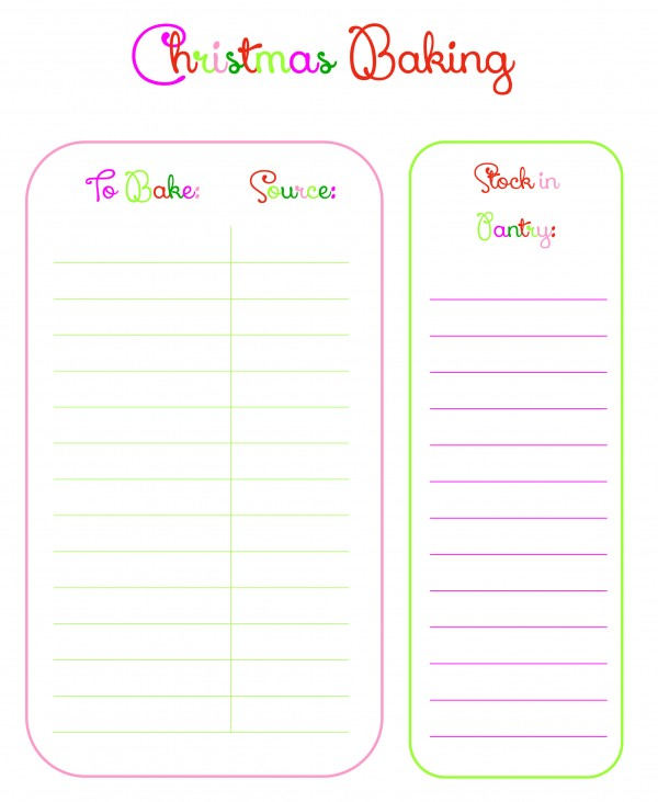 Get this FREE Baking checklist printable and 3 other printables to organize your Christmas season this year | Ask Anna