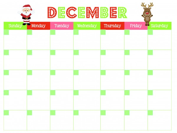Get this FREE December calendar printable and 3 other printables to organize your Christmas season this year | Ask Anna