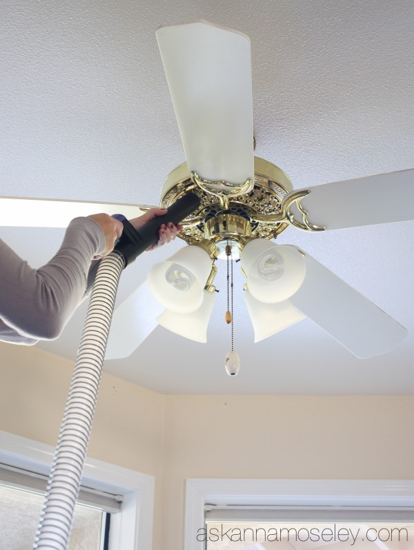 Fall Cleaning ~ How to Clean a Lampshade, the Fans & more