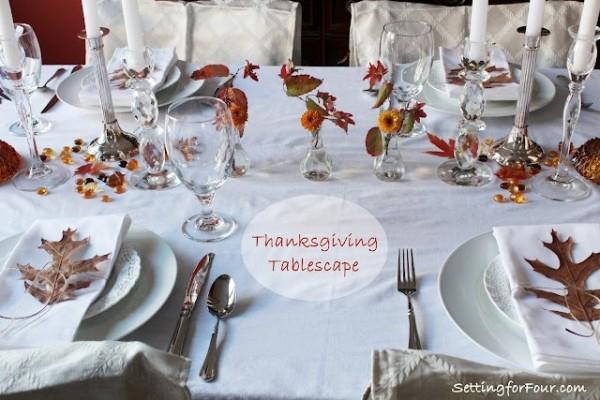 Fall leaves table setting