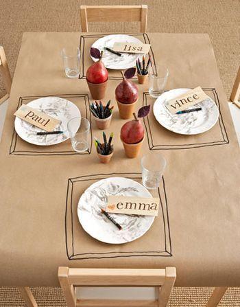 Kids Thanksgiving table setting ideas