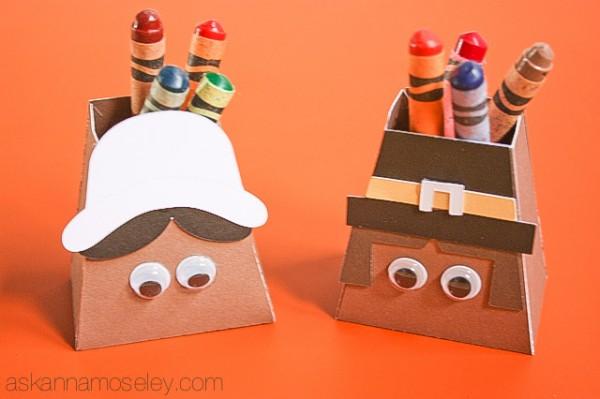 Thanksgiving kids craft ~ Pilgrims - Ask Anna