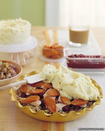 Thanksgiving leftovers shepherd's pie