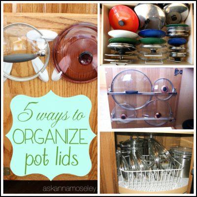 How to Organize Pot Lids