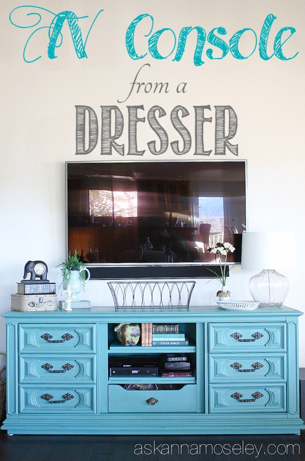 DIY Dresser to TV Console - Ask Anna