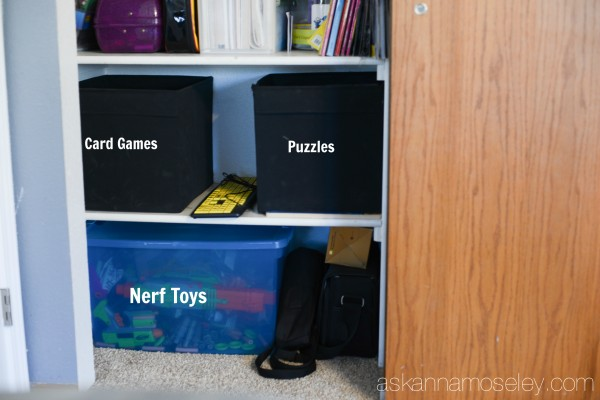 Game closet organization - Ask Anna
