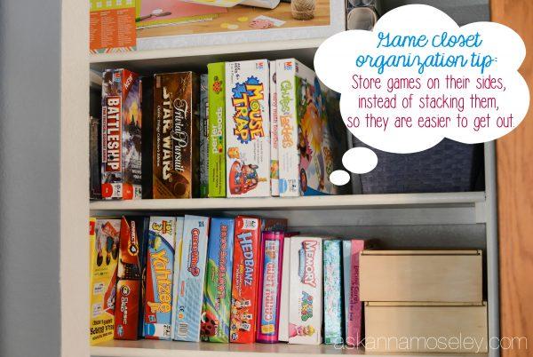Game Closet Organization Tips   Ask Anna