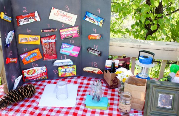 Camping themed party - Ask Anna