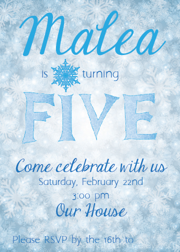 Frozen party invitation idea - Ask Anna