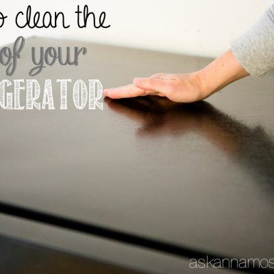 The Best Way to Clean the Top of the Refrigerator