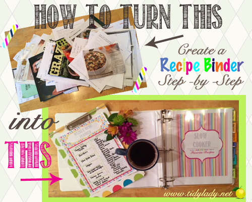 how to make a recipe binder ask anna