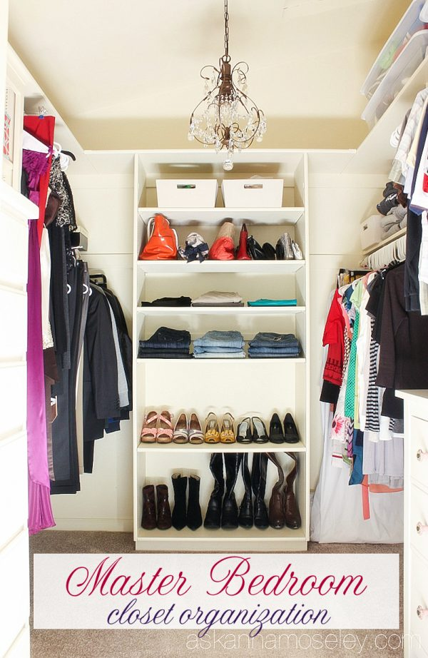 Great Master Bedroom Closet Organization   Ask Anna
