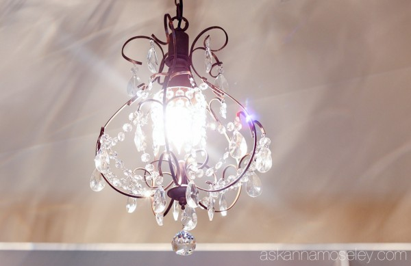 Chandelier in the master bedroom closet - Ask Anna