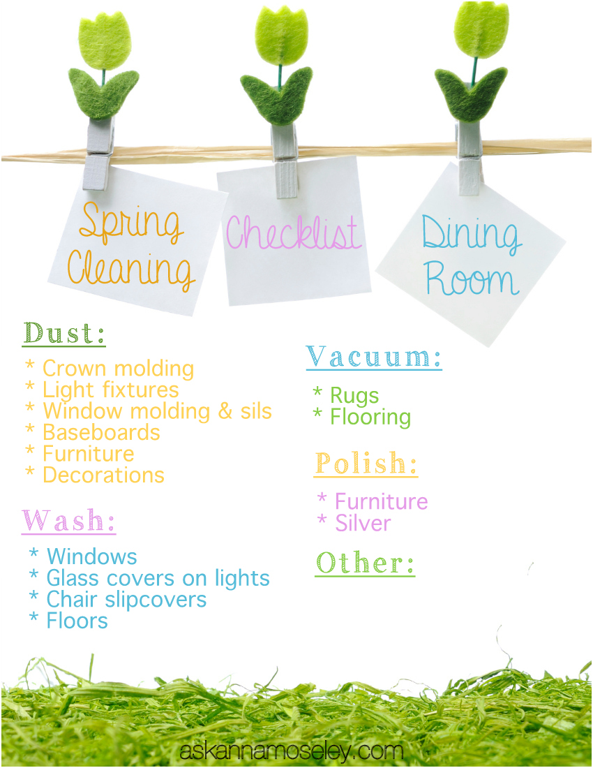 Spring Cleaning The Dining Room Amp Free Checklist Ask Anna