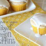 Gluten free glazed lemon muffins