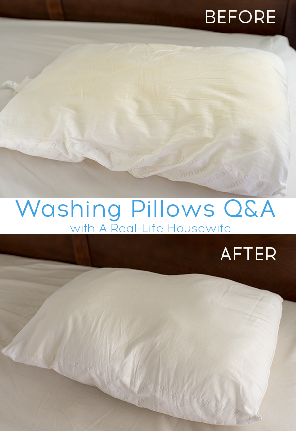 how to wash and whiten pillows ask anna. Black Bedroom Furniture Sets. Home Design Ideas