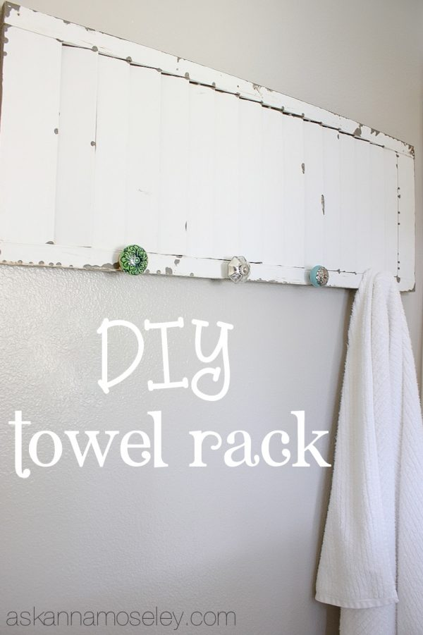 DIY towel rack - Ask Anna