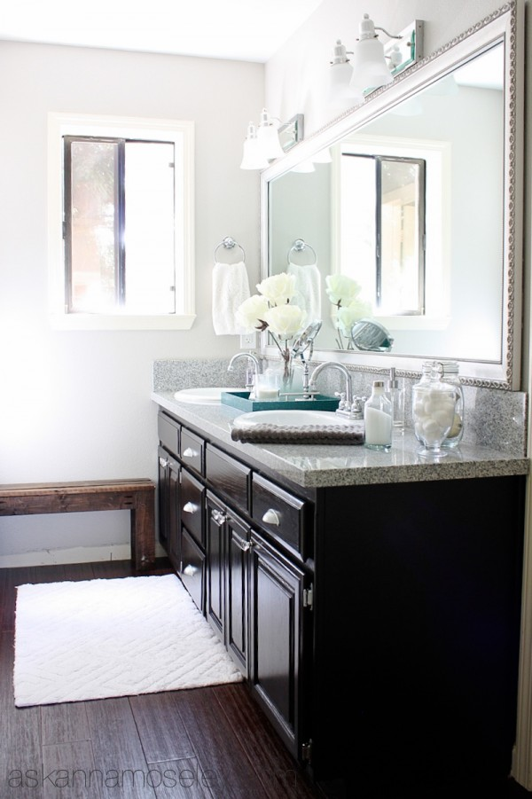 Guest Bathroom Makeover ~ From Pink to Fab