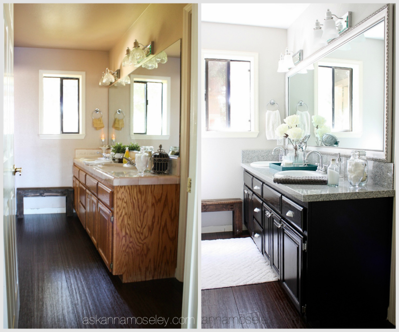 Guest bathroom makeover from pink to fab ask anna Cheap bathroom remodel before and after