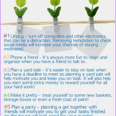How to Stay Motivated when Spring Cleaning