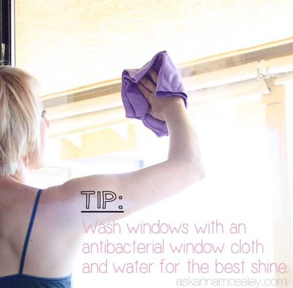 How to wash windows with only water - Ask Anna