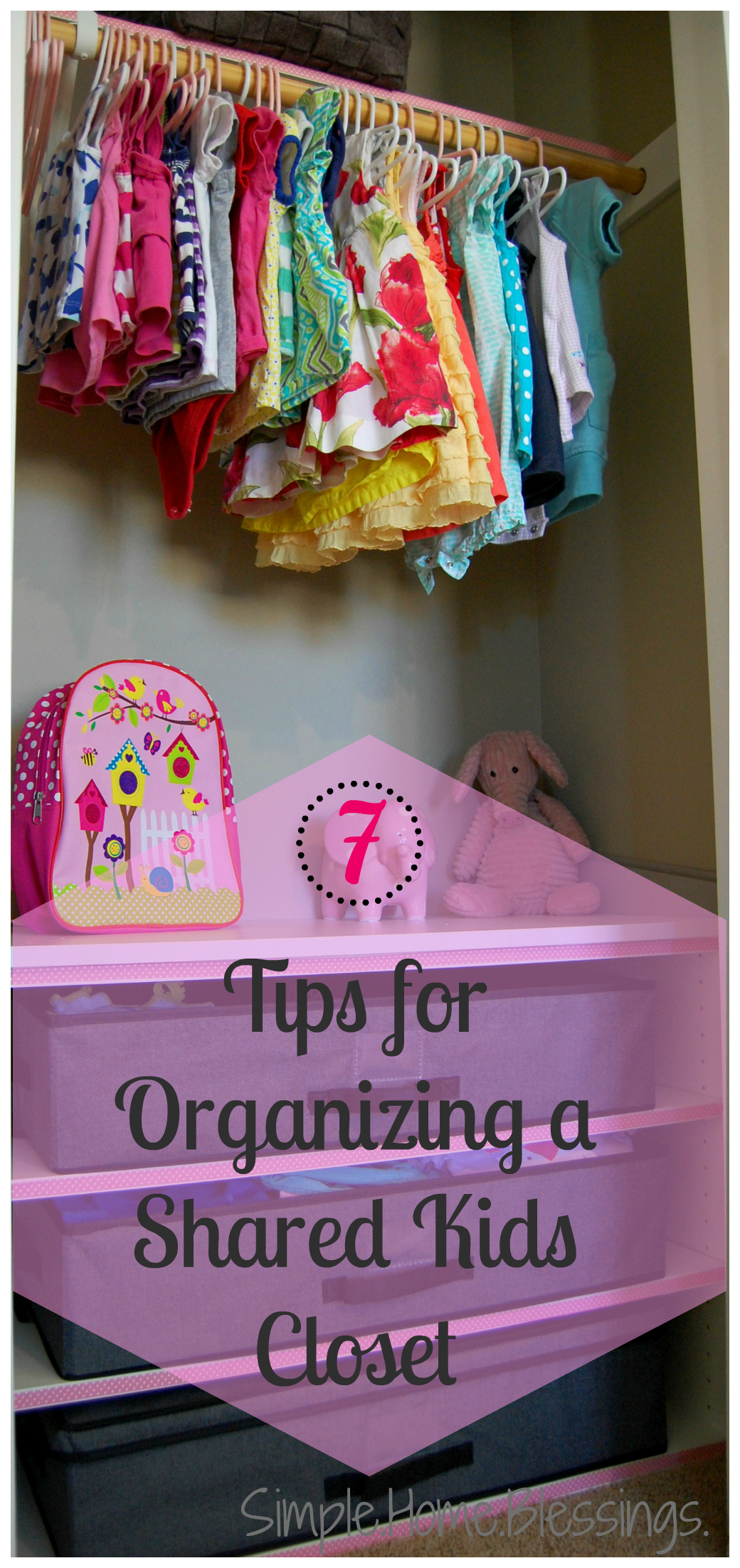 pink a for how closet steps peppermint design organize organizing kids to