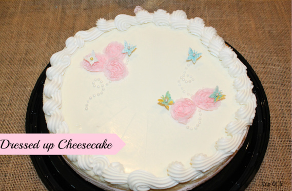 Decorated cheesecake