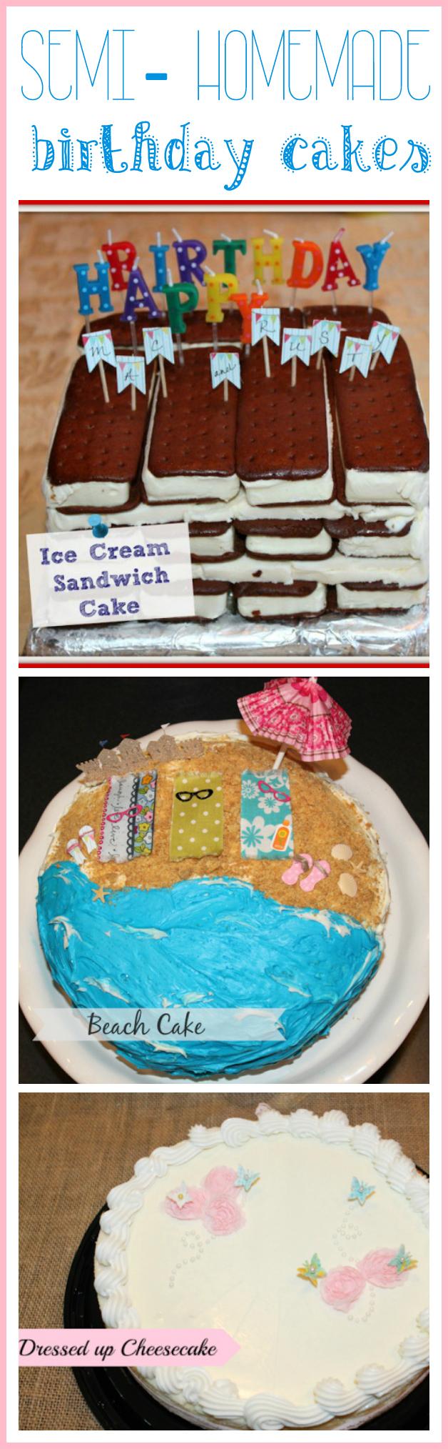 Semi-homemade birthday cake ideas - Ask Anna