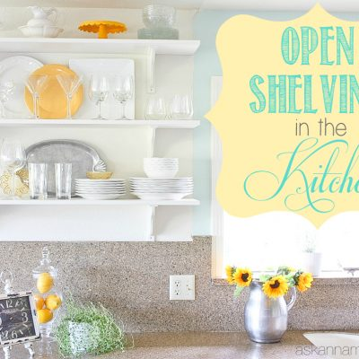 Open Shelving in the Kitchen (Finally!)