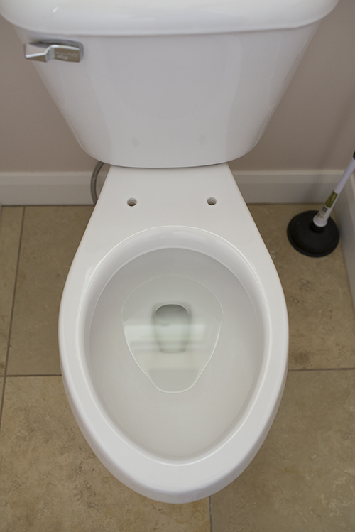 Remove the toilet seat for cleaning!