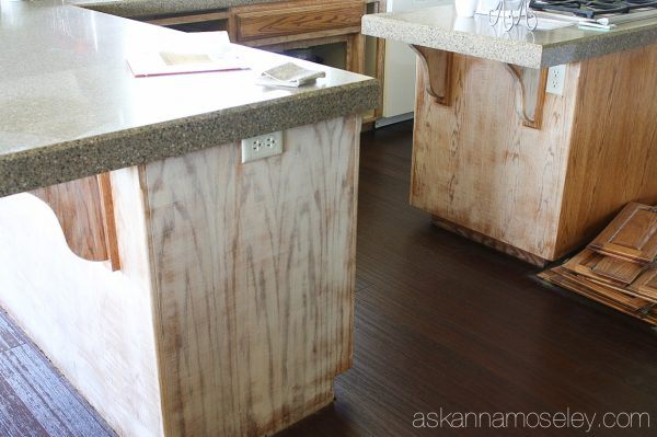 How To Hide Wood Grain On Cabinets Kitchen Makeover Part