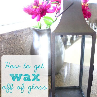 How to get Wax off Glass