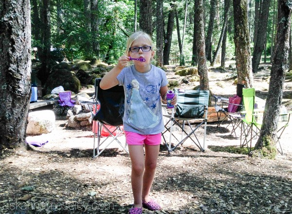 Camping games - bubbles