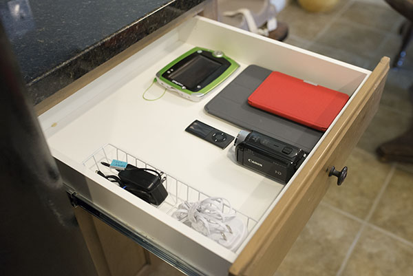 how to set up a charging station for multiple electronics ask anna. Black Bedroom Furniture Sets. Home Design Ideas