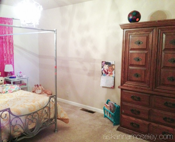 Girl's room makeover -before