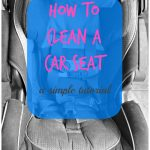 How to Clean a Car Seat, a simple tutorial - Ask Anna