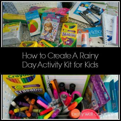 How to Create a Kid's Rainy Day Activity Kit