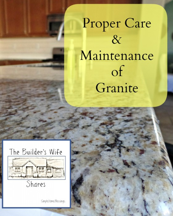 The Proper Care and Maintenance of Granite