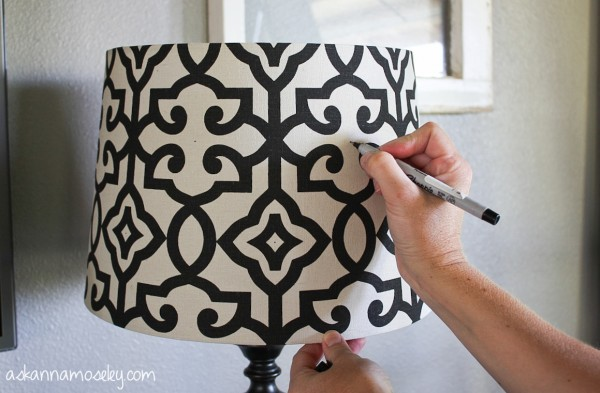 BHG lamp shade makeover, an Eddie Ross hack - Ask Anna