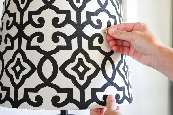 Lamp shade makeover, an Eddie Ross hack - Ask Anna