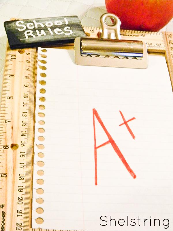 """Back to school """"School Rules"""" clipboard"""