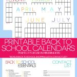 Free 2014-2015 Back to School Printable Calendars