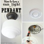 How to turn a can light into a pendant - Ask Anna