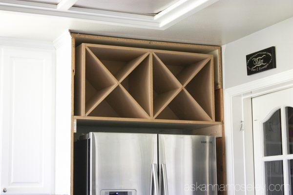 Wine rack above fridge - Ask Anna